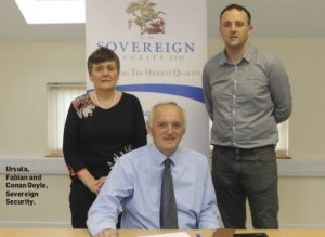 Ursula, Fabian and Conan Doyle of Sovereign Security Ltd.